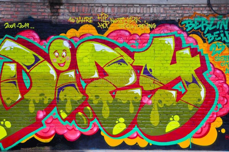 Straatkunst op muur stock fotografie