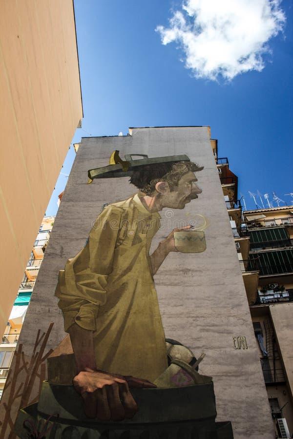 Straatkunst in Rome stock fotografie