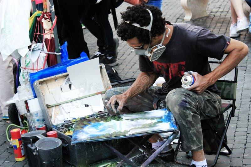Straatkunstenaar royalty-vrije stock foto
