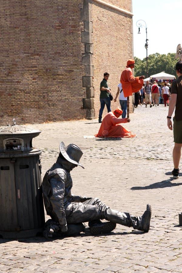 Straatkunstenaar Rome Italy royalty-vrije stock foto