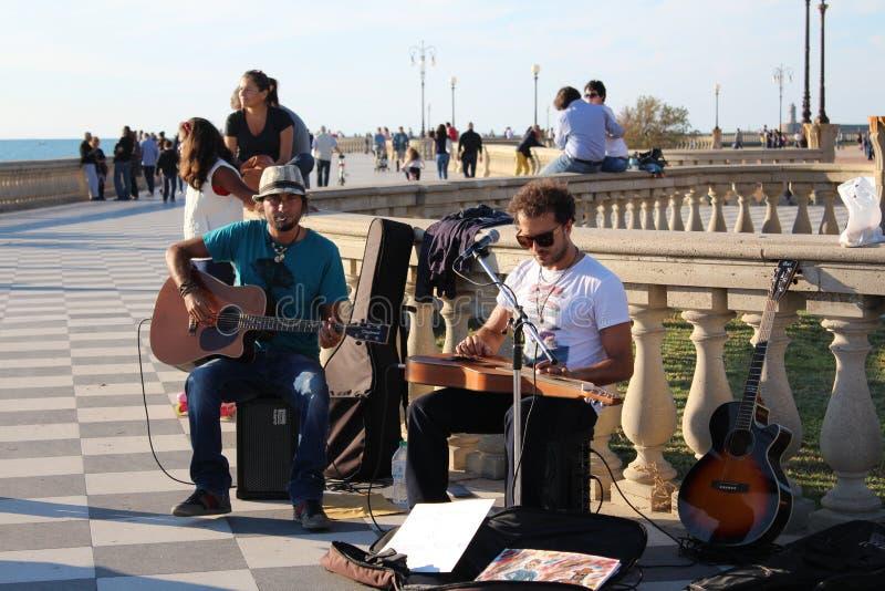 Straatkunstenaars - musici stock fotografie