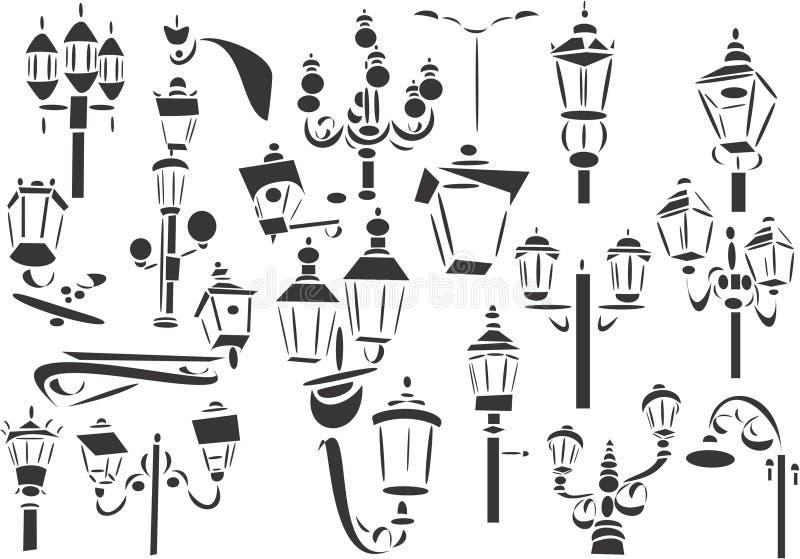 Straatlantaarns royalty-vrije illustratie