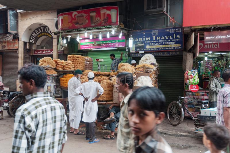 Straatmarkt in Bombay Mumbai, India