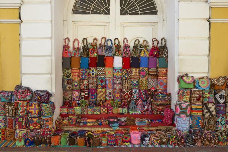 Straatmarkten van Cartagena DE Indias in Colombia royalty-vrije stock foto