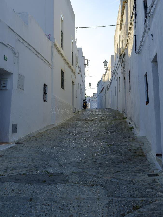 Straatmening in Arcos de la Frontera, Spanje royalty-vrije stock foto