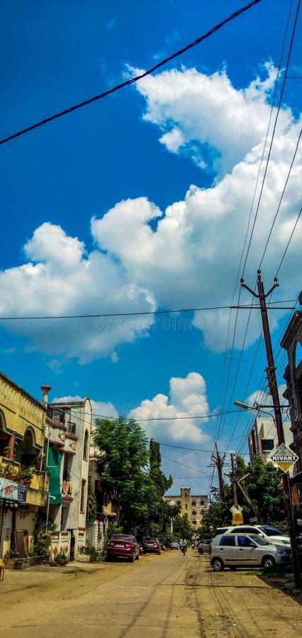 Straatmening in de stad stock foto's