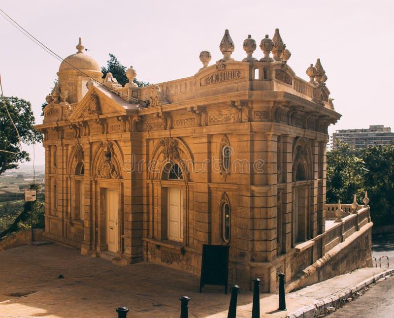 Straatmening in Rabat, Casino Notabile, Malta royalty-vrije stock afbeeldingen