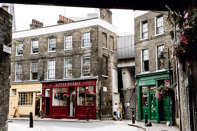 Straatmening in Southwark, Londen stock afbeeldingen
