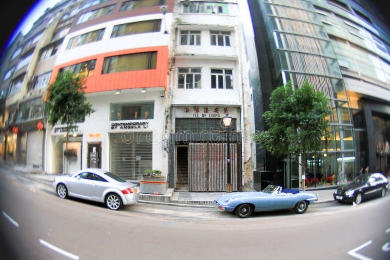 straatmening van centraal in Hongkong 2010 royalty-vrije stock foto