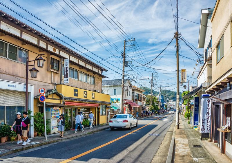 Straatmening van Kamakura in Kanagawa-Prefectuur, Japan royalty-vrije stock foto