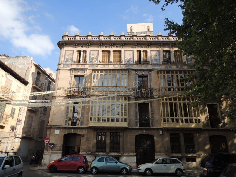 Straatmening van Palma de Mallorca royalty-vrije stock afbeeldingen