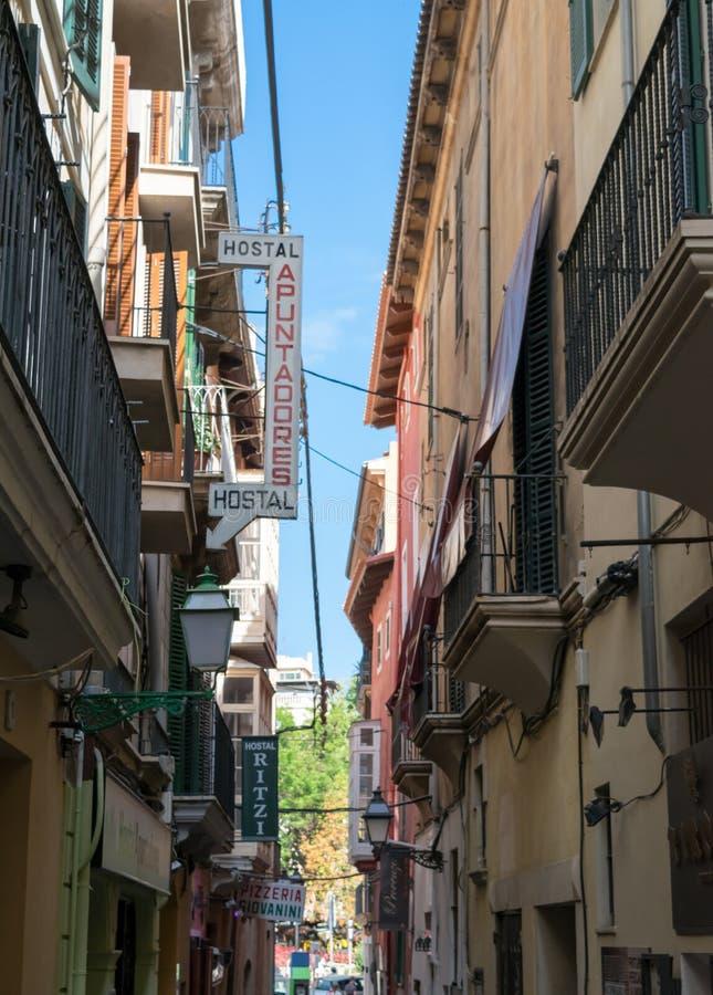 Straatmening van Palma De Mallorca Spain stock foto's