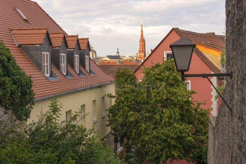 Straatmening van Wurzburg royalty-vrije stock afbeelding
