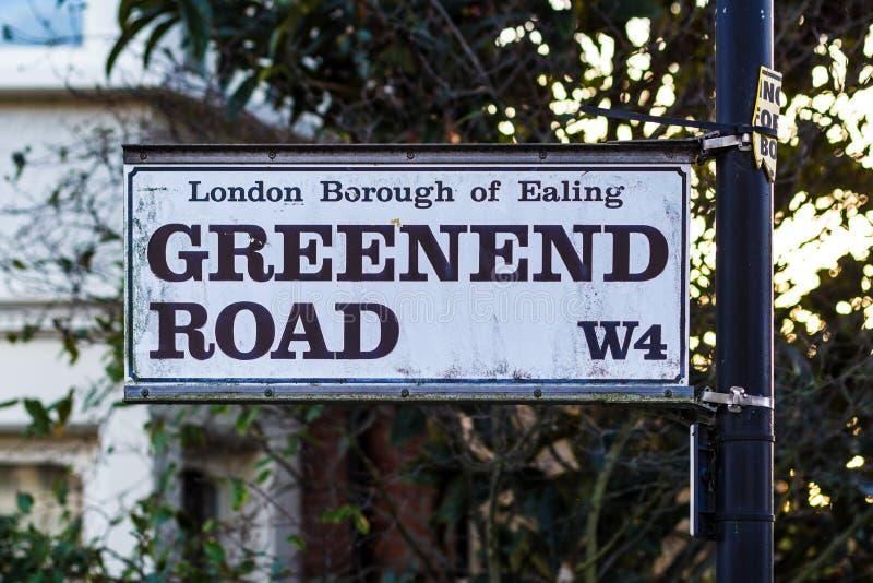 Straatplaten in West-Londen royalty-vrije stock afbeeldingen