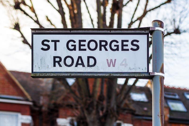 Straatplaten in West-Londen royalty-vrije stock afbeelding