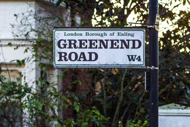 Straatplaten in West-Londen royalty-vrije stock fotografie