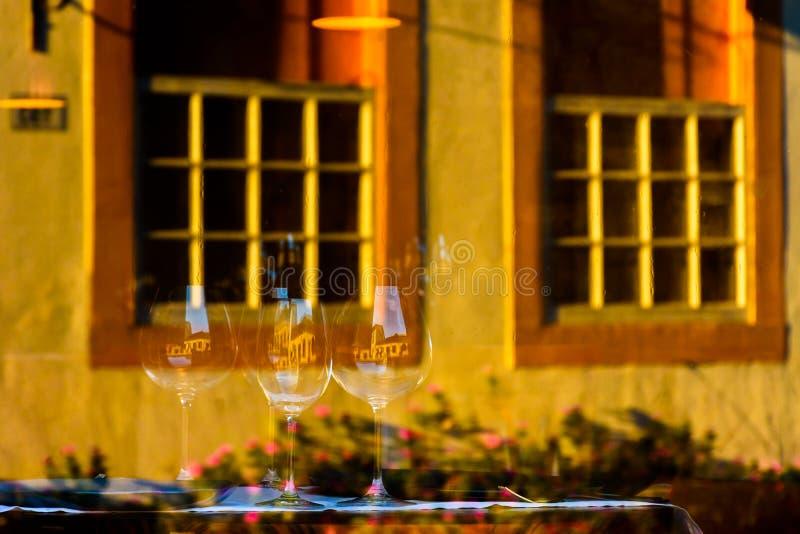 Straatreflex in Paraty royalty-vrije stock foto