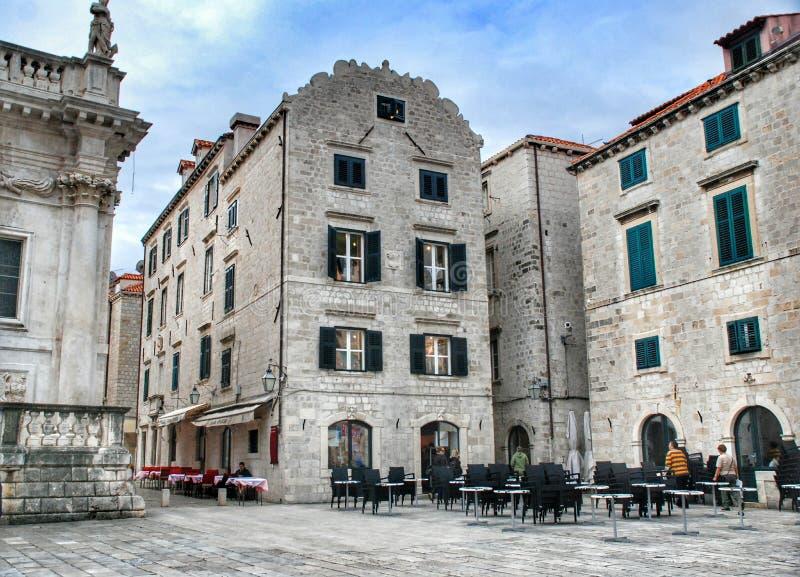 Straatrestaurant in Dubrovnik royalty-vrije stock fotografie