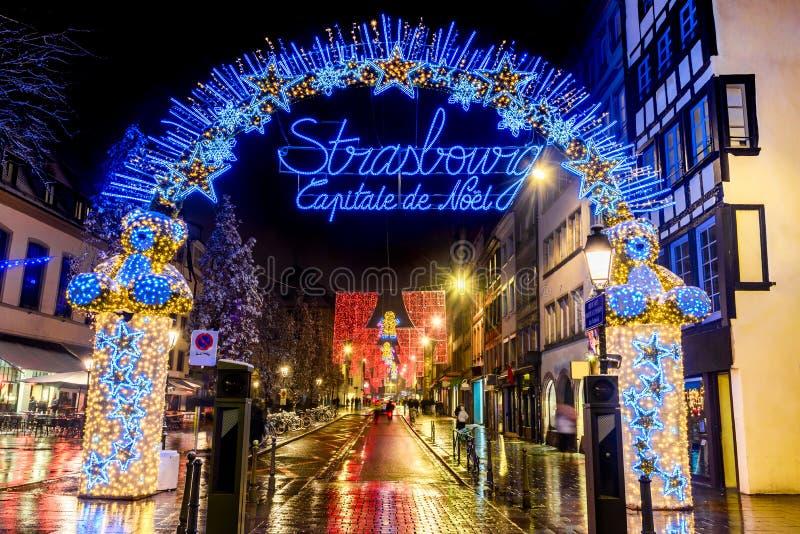 Straatsburg, de Elzas, Frankrijk - Capitale DE Noel royalty-vrije stock fotografie