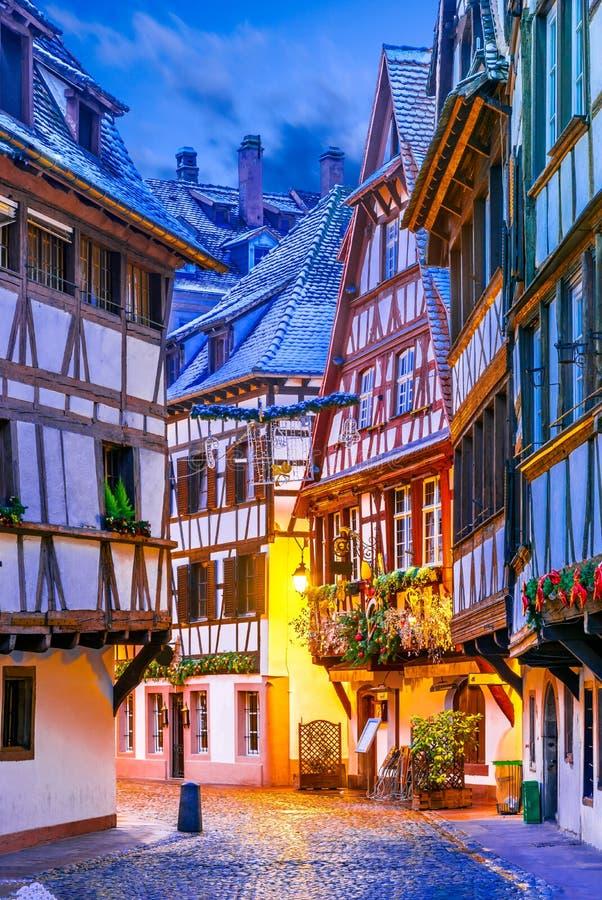 Straatsburg, de Elzas, Frankrijk - Capitale DE Noel stock afbeeldingen
