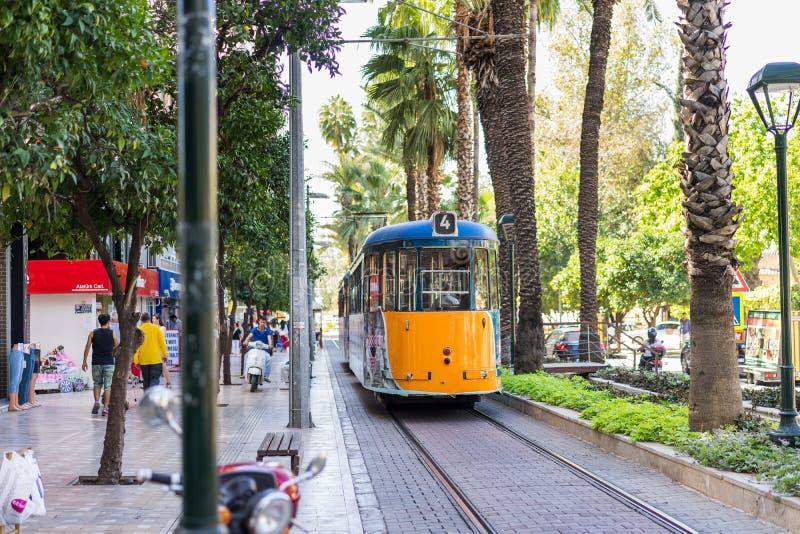 Straatscène in Antalya, Turkije stock afbeeldingen