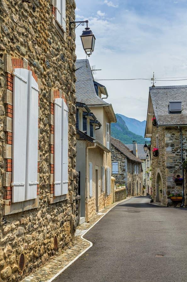Straatscène in Borce, Frankrijk royalty-vrije stock afbeeldingen