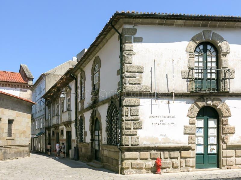 Straatscène in Braga, Portugal stock fotografie