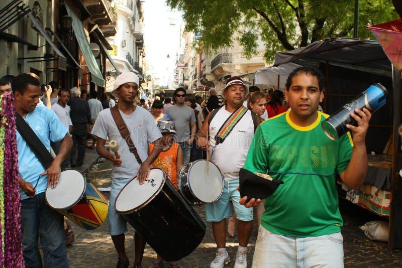 Straatscène in Buenos aires stock fotografie