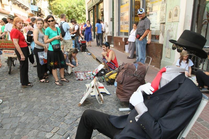 Straatscène in Buenos aires stock afbeeldingen