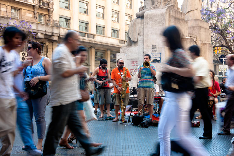 Straatscène in Buenos aires stock foto's