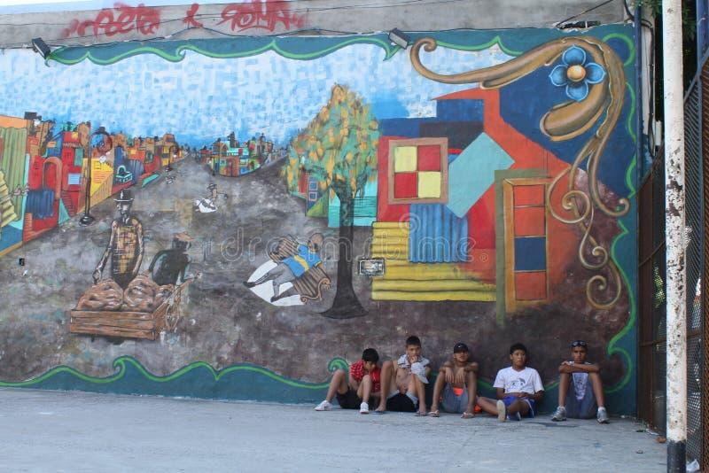 Straatscène in Buenos aires stock foto