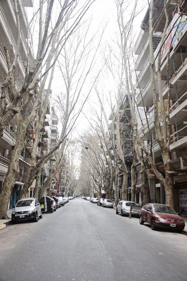 Straatscène in Buenos aires - Argentinië stock afbeelding