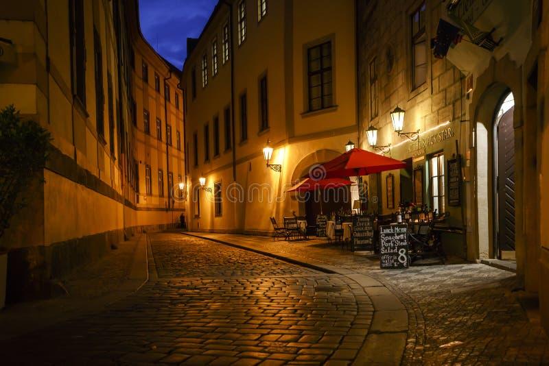 Straatscène in de Tsjechische republiek van Praag stock fotografie