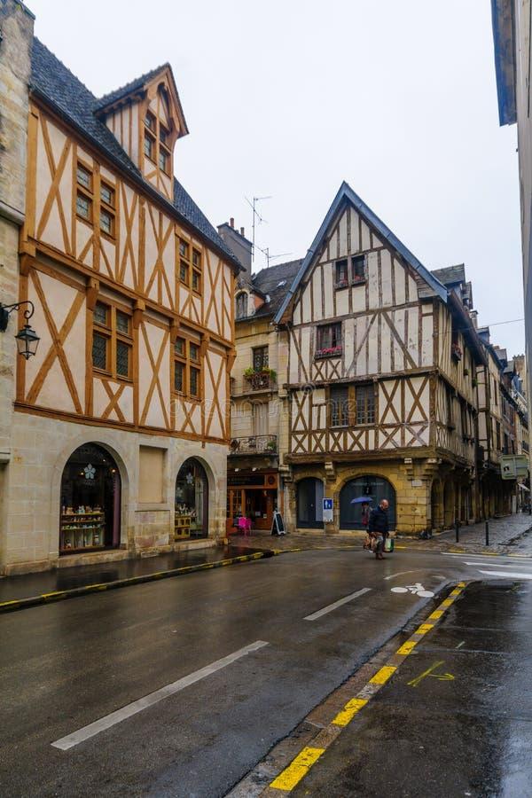 Straatscène in Dijon royalty-vrije stock foto