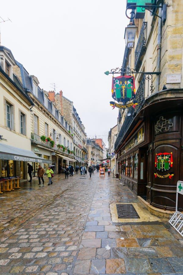 Straatscène in Dijon royalty-vrije stock foto's
