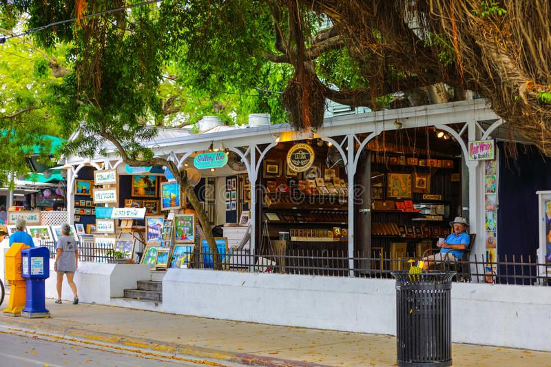 Straatscène Key West Florida de V.S. stock afbeeldingen