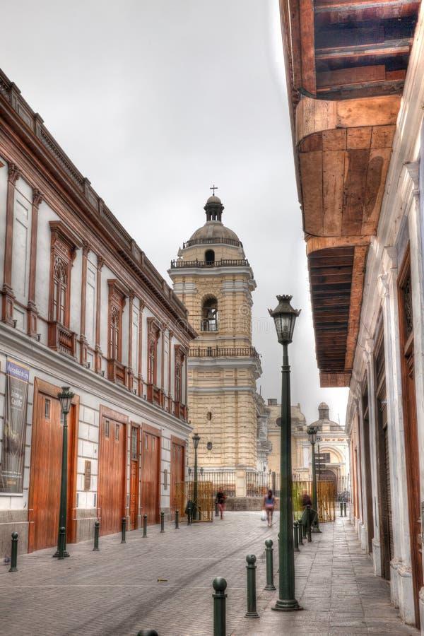 Straatscène in Lima Peru royalty-vrije stock fotografie