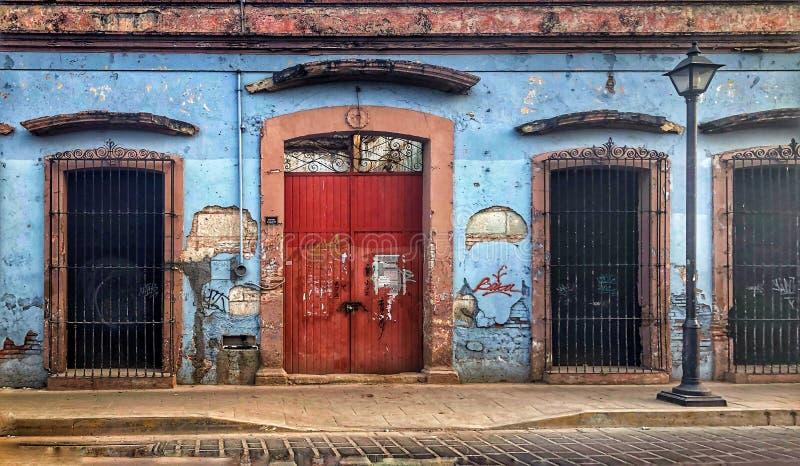Straatscène in Oaxaca, Mexico royalty-vrije stock foto