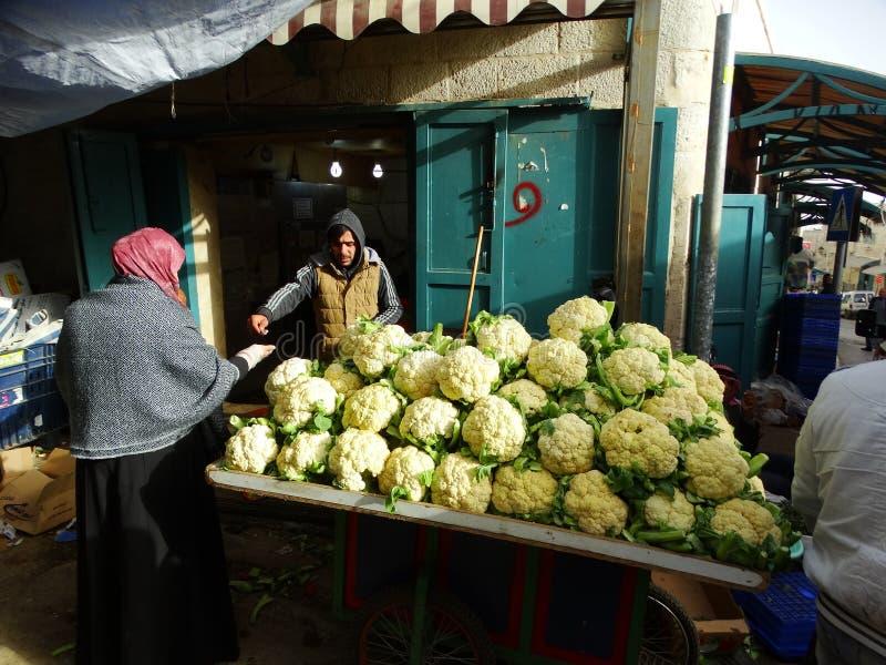 Straatscène van Bethlehem, Palestina Israël stock afbeelding