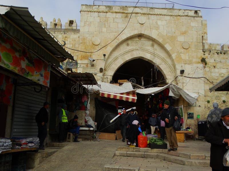 Straatscène van Bethlehem, Palestina Israël royalty-vrije stock fotografie