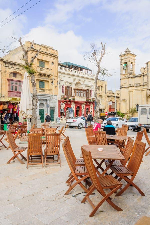 Straatscène, Victoria, Gozo royalty-vrije stock foto