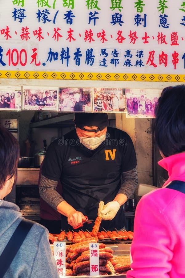 Straatscènes Wulai, Taiwan royalty-vrije stock afbeeldingen