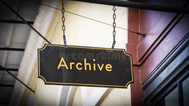 Straatteken aan Archief royalty-vrije stock afbeelding