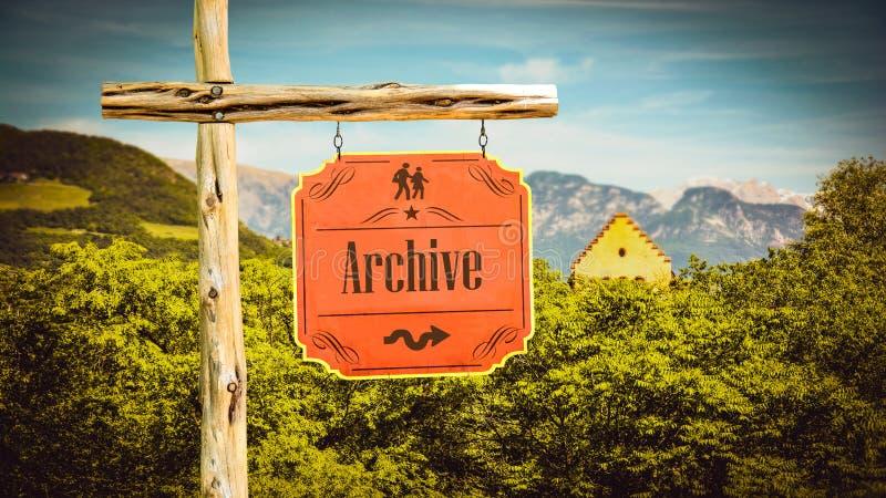 Straatteken aan Archief royalty-vrije stock fotografie