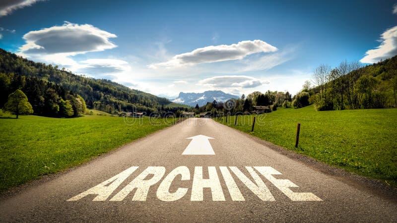 Straatteken aan Archief stock afbeeldingen