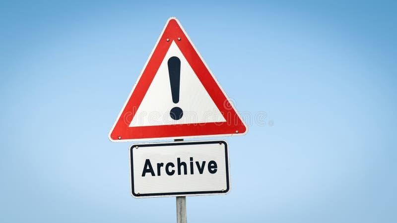 Straatteken aan Archief stock fotografie