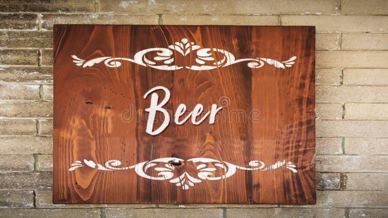 Straatteken aan Bier stock afbeelding
