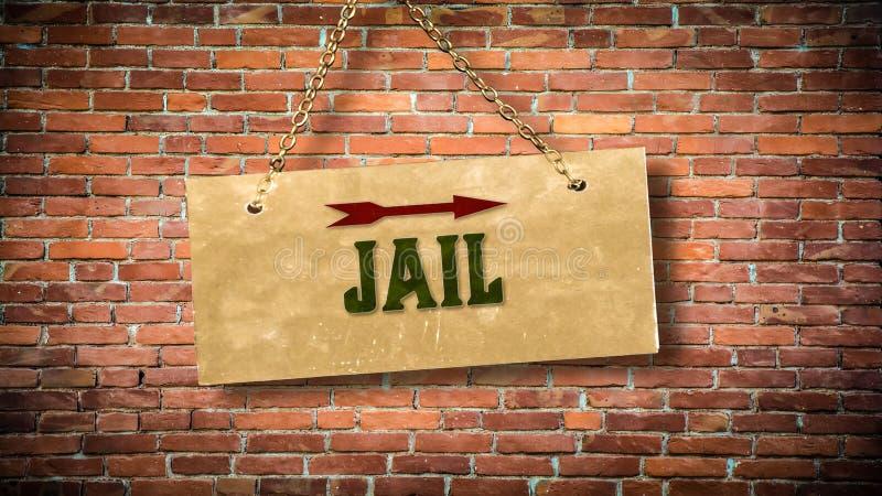 Straatteken aan Gevangenis royalty-vrije stock fotografie