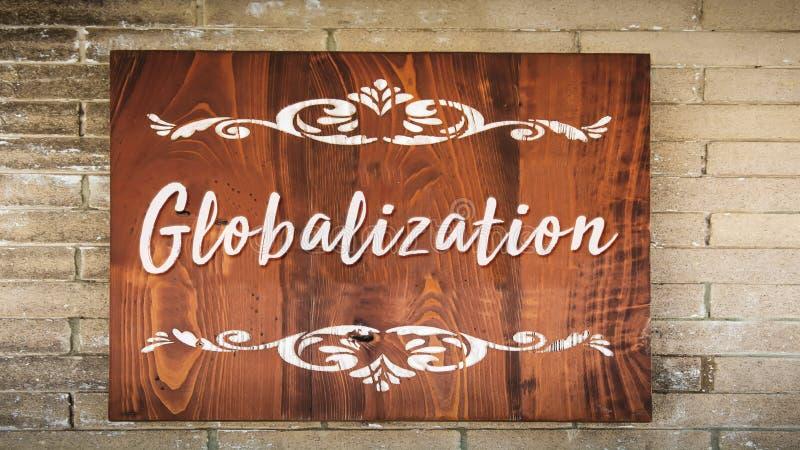 Straatteken aan Globalisering royalty-vrije stock foto