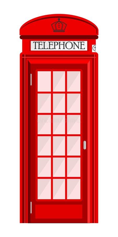 Straattelefooncel op witte achtergrond wordt geïsoleerd die royalty-vrije illustratie
